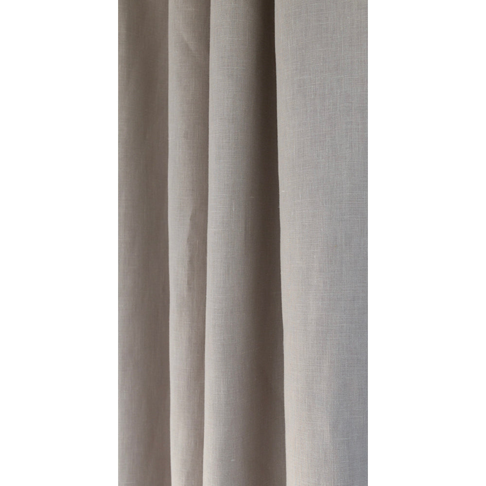Tuscany Linen Pumice, a light warm gray drapery fabric from Tonic Living