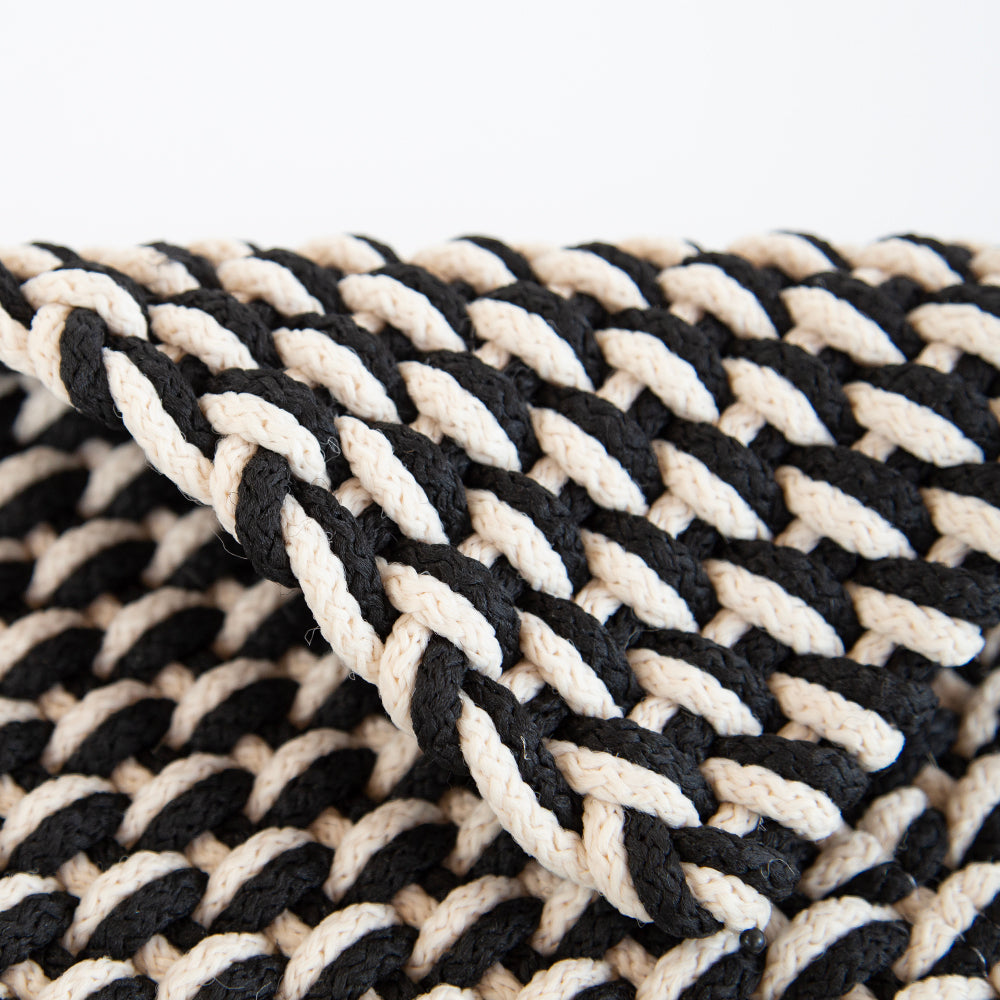 two tone rope black ivory dash and albert tonic living rugs