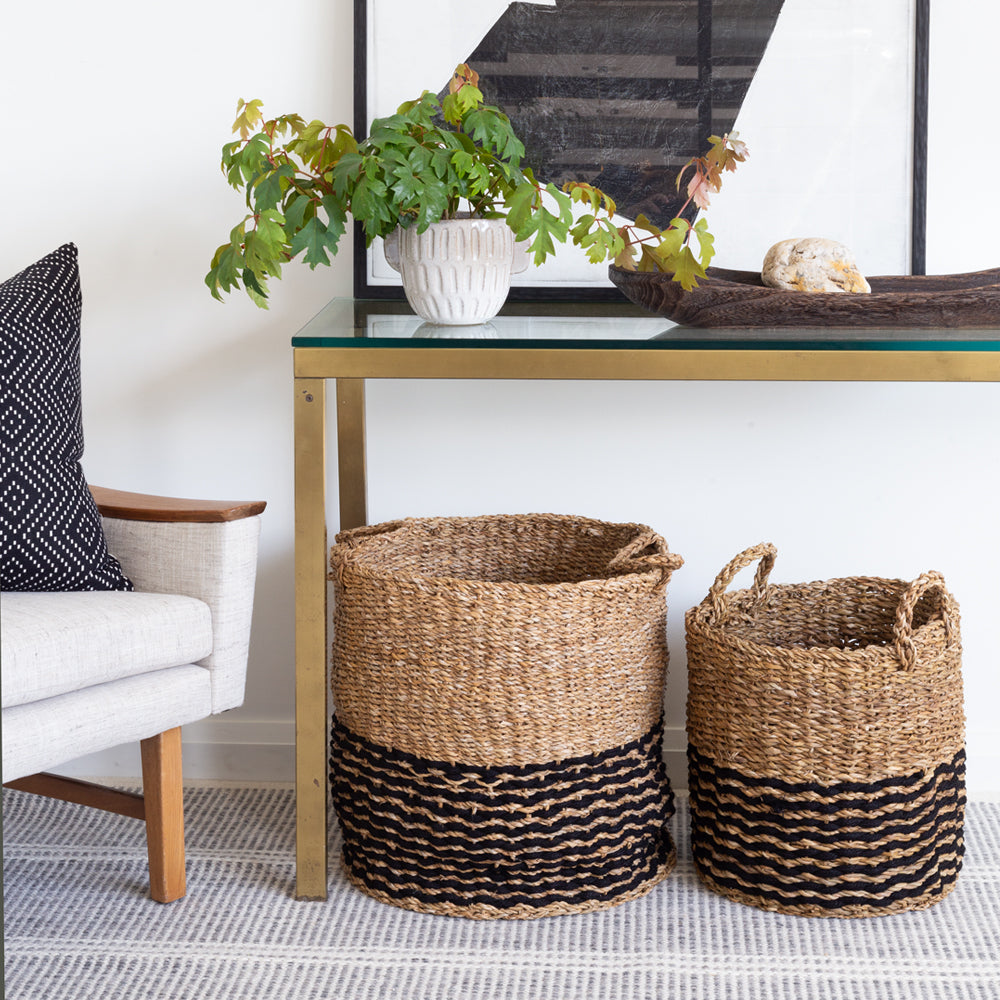 Valencia Seagrass Basket, Natural