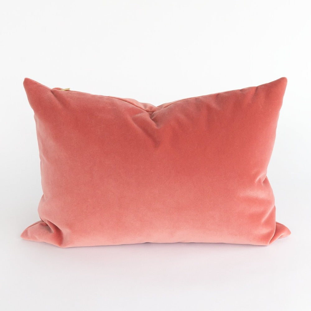 Valentina pink velvet lumbar pillow from Tonic Living