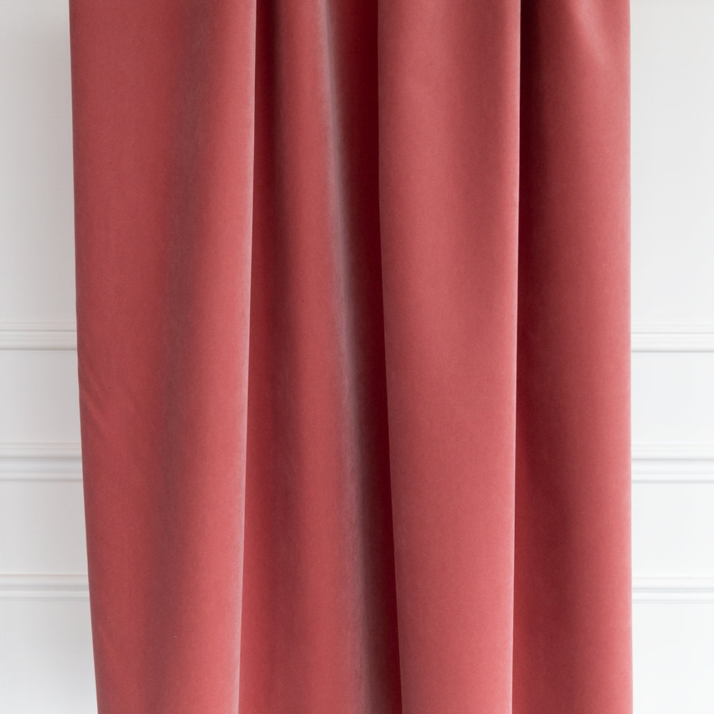 Valentina, Rosewood dusty rose pink velvet fabric from Tonic Living