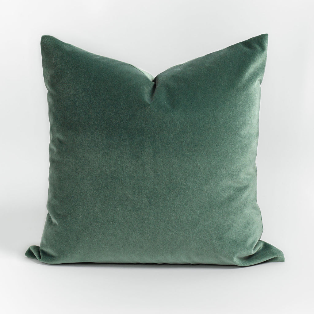 Valentina Velvet jade green pillow from Tonic Living