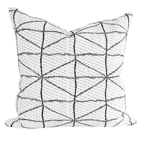 Vigo - A graphic black and cream pillow with a modern-tribal feel.