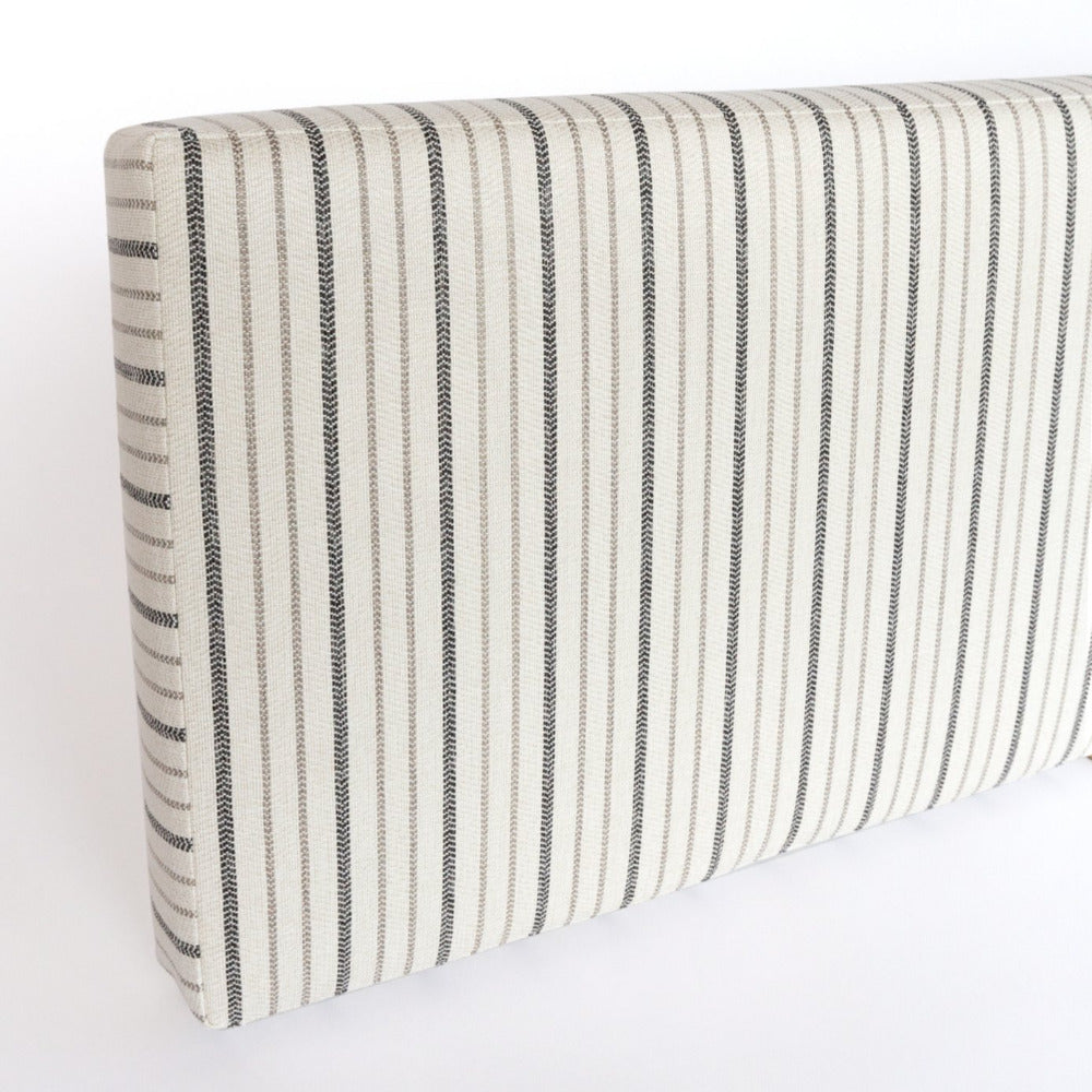 Walter, ivory, beige and black stripe bench cushion from Tonic Living