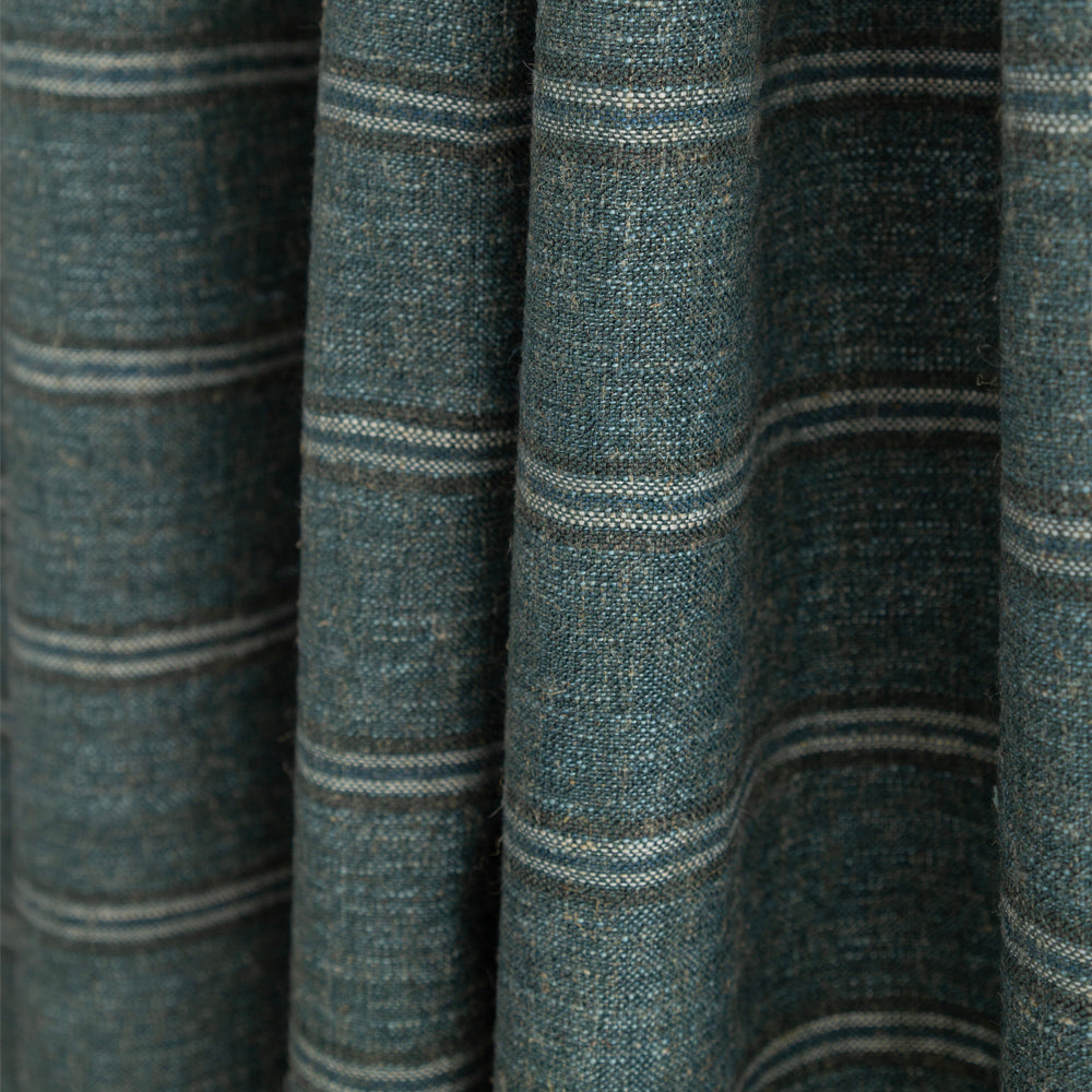 Yarmouth Stripe Spruce, a green and teal stripe fabric from Tonic Living