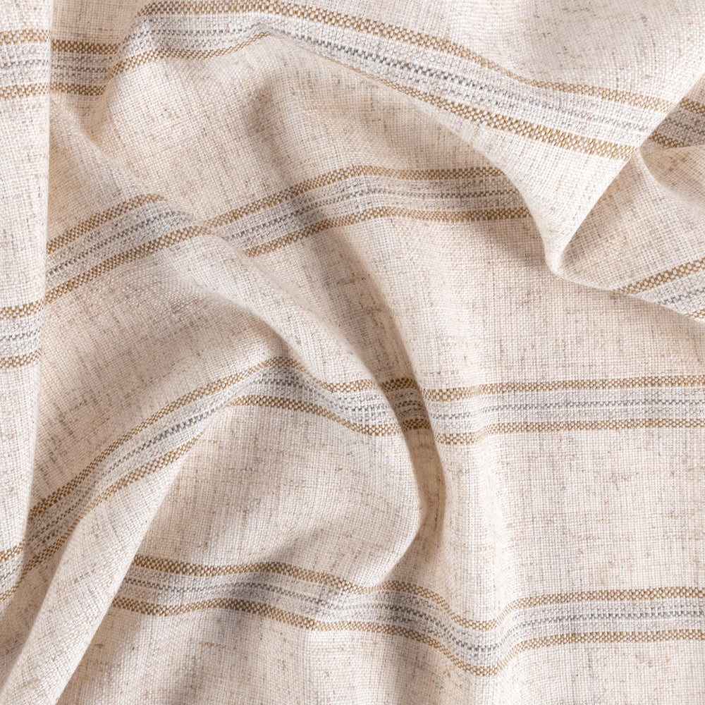 Yarmouth Stripe Sandstone, a beige, sand and gray stripe fabric from Tonic Living