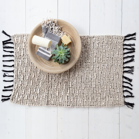 Yasmine woven bath mat by Tonic Living