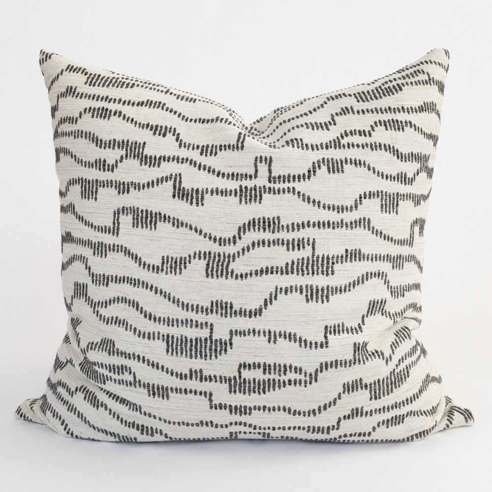 Zoe charcoal dotty zepra print pillow from Tonic Living