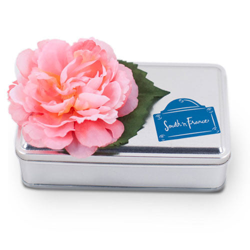 18 Piece Tin with Silk Flower