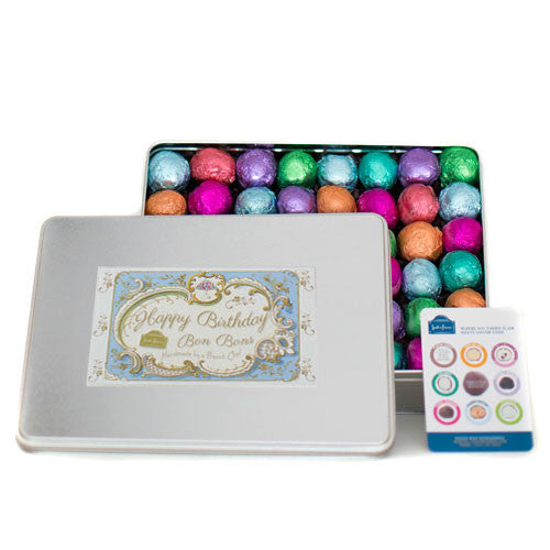 96 Piece Birthday Tin (Blue)