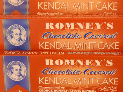Kendal mint cake -  chocolate coated