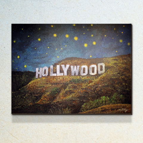 Starry Night Over Hollywood - Original Painting