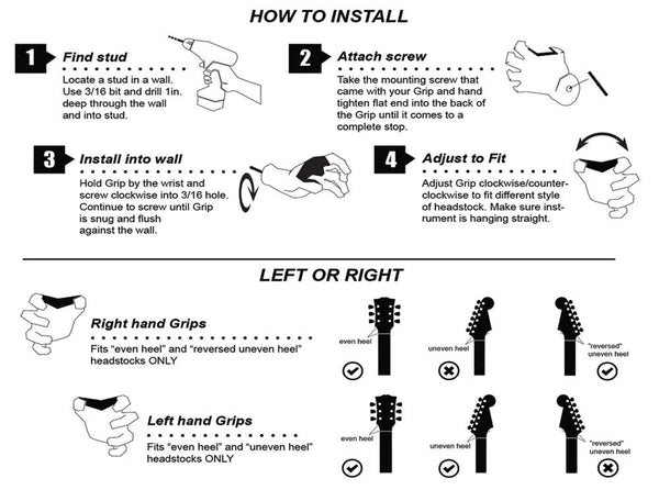Guitar Hanger Install Instructions