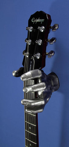 Silver Metallic Hand GuitarGrip Hanger
