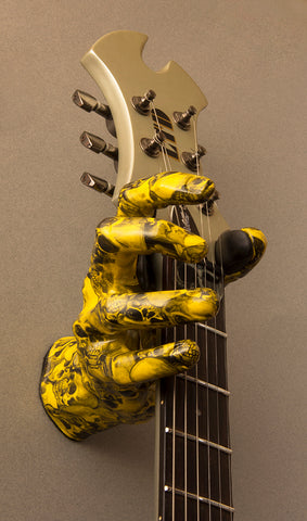 Yellow Skeleton Guitar Grip