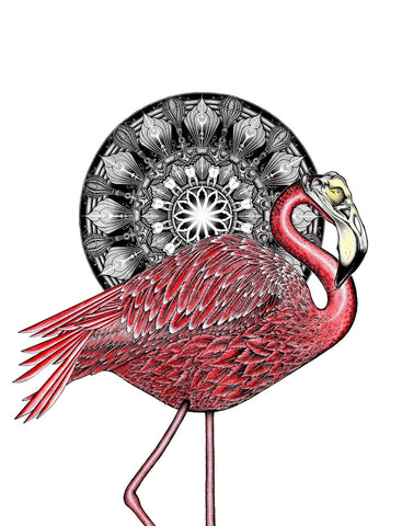 "Matty Ruwaard ""Flamingus"" print"