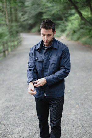 man wearing duckworth woolfill jacket