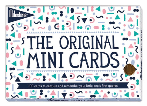Milestone Mini Cards - Baby Memory Cards - how-i-wonder