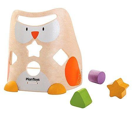 PLAN TOYS - OWL SHAPE SORTER - HOW I WONDER