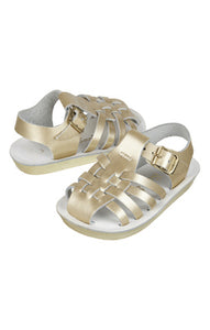 Sailor Saltwater - Toddler Sandals - Gold - how-i-wonder