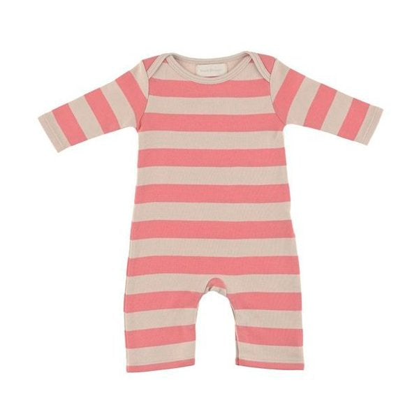 Posy Pink & Sand Striped - Baby All-In-One - Bob & Blossom - how-i-wonder
