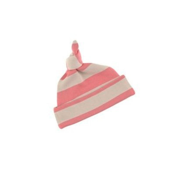 Bob & Blossom  -Posy Pink & Sand - striped baby hat