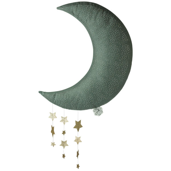 Hanging Grey Moon with Stars - Picca LouLou