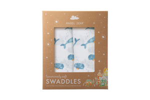 Whale - Swaddle Duo - Angel Dear - how-i-wonder