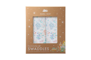 Ditsy Seaworld - Swaddle Duo - Angel Dear - how-i-wonder