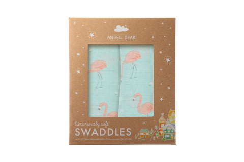 Angel Dear - Flamingo - Swaddle Duo