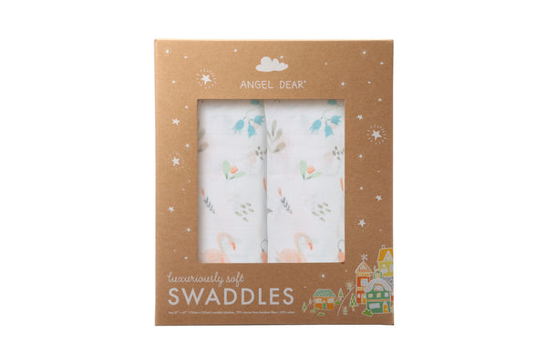 Angel Dear - Swan - Swaddle Duo