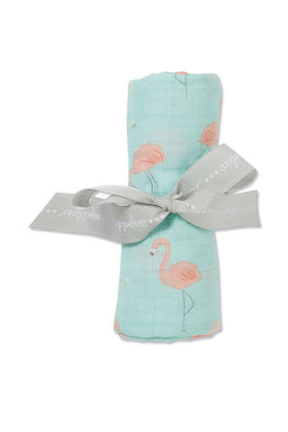 Flamingo - Swaddle - Angel Dear - how-i-wonder