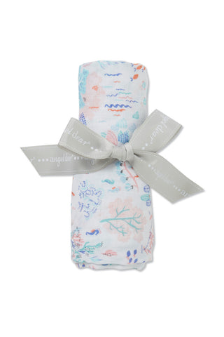 Ditsy Seaworld - Swaddle - Angel Dear - how-i-wonder