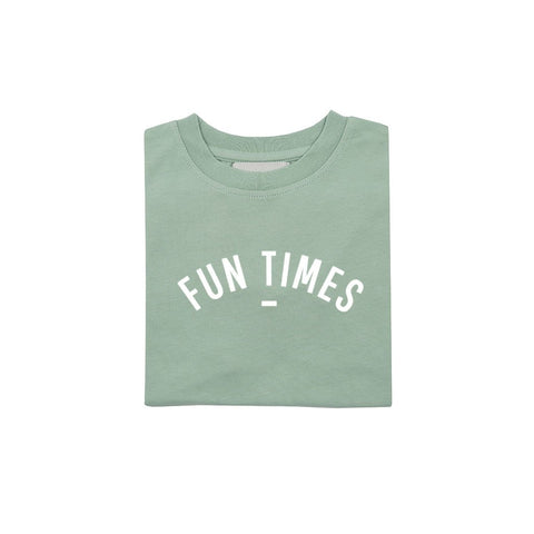 Sage Fun Times - Short Sleeved T-shirt - Bob & Blossom - how-i-wonder