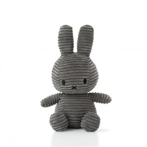 Miffy Corduroy Soft Toy 24cm - Grey - how-i-wonder