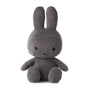 Miffy Corduroy Soft Toy 50cm - Grey - how-i-wonder