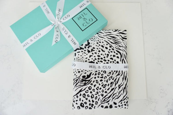 Mil & Clo - Animal Print - Cotton Muslin Swaddle