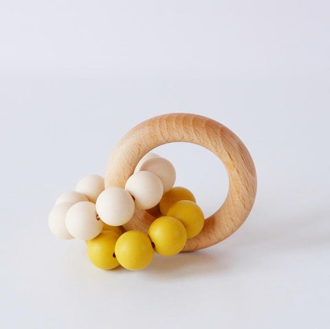 Teething Toy - Mustard Duo - Blossom & Bear - how-i-wonder