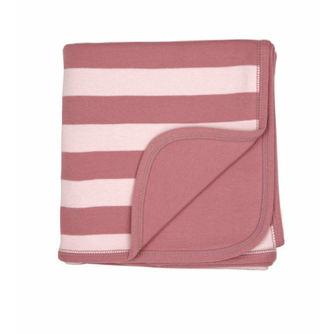 Vintage & Powder Pink Striped - Baby Blanket - Bob & Blossom