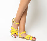 Saltwater Original Sandals - Shiny Patent Yellow - Womens