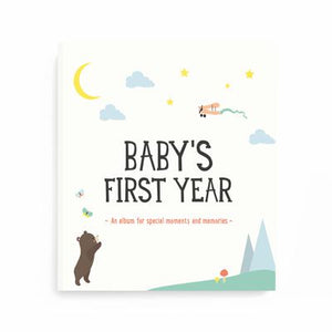 Milestone - Baby's First Year Album - how-i-wonder