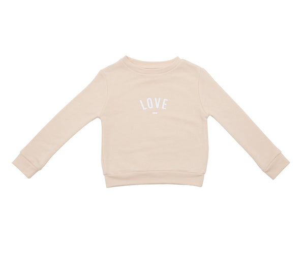 'Love' Sweatshirt Buttermilk - Bob & Blossom - how-i-wonder