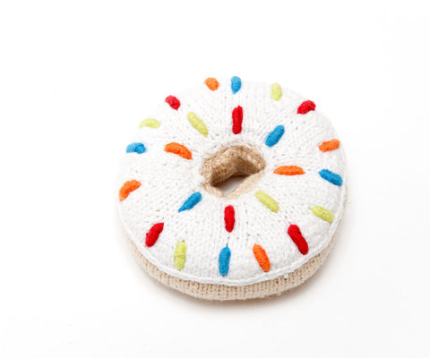 Pebble - Fairtrade - Handmade Donut Rattle - How I Wonder.co.uk - 1
