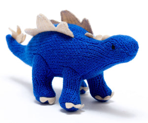 Best Years - Knitted Dinosaur - Stegosaurus Rattle - How I Wonder.co.uk - 1