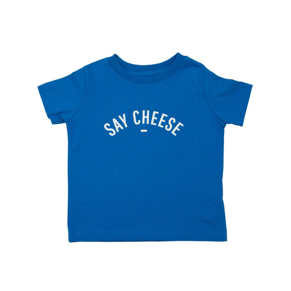 French Blue - Say Cheese - Short Sleeved T-shirt - Bob & Blossom - how-i-wonder
