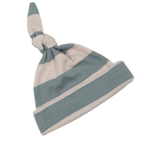 Slate & Stone Striped - Baby Hat - Bob & Blossom - how-i-wonder
