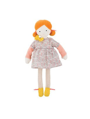Moulin Roty - Les Parisiennes - Mademoiselle Blanche - Soft Toy - How I Wonder.co.uk - 1