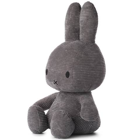 Miffy Corduroy Soft Toy 50cm - Grey