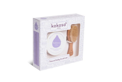 Natural Baby Brush Set - Kokoso - how-i-wonder