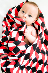 How I Wonder - Geometric Muslin Swaddle - Mil & Clo baby